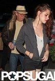 Kristen Stewart stepped out for a Florence and the Machine show with her dad.
