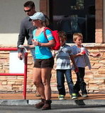 Britney Spears took her boys to McDonald's.