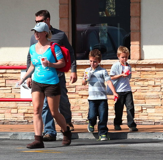 Britney Spears Makes a McDonald's Run With Her Boys