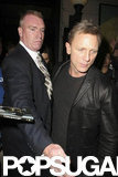 Daniel Craig left the SNL afterparty in NYC.