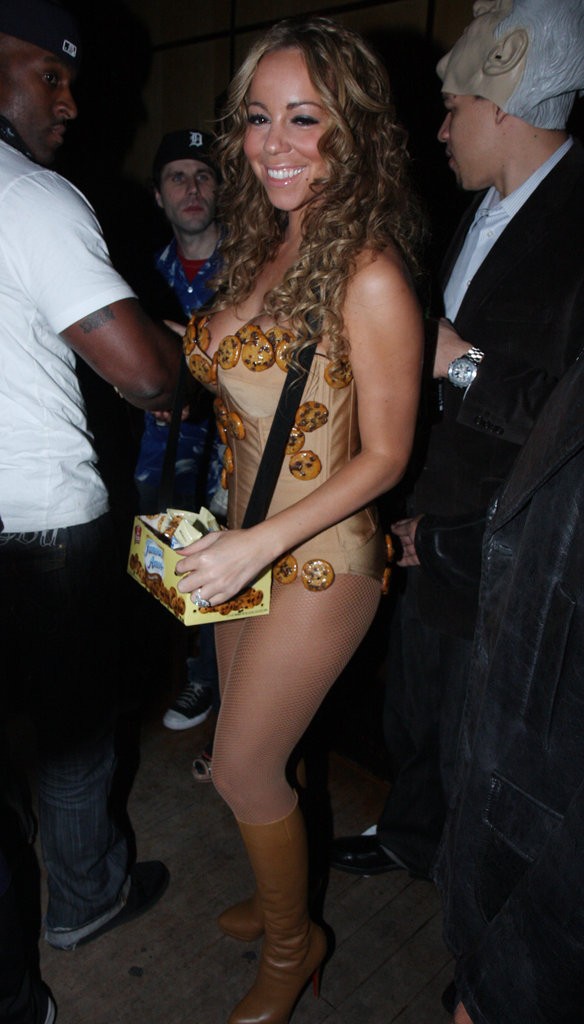 Mariah Carey dressed up in a skimpy cookie costume for a party in 2008 — husband Nick Cannon accompanied her as a milk carton.