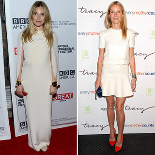 Sienna Miller White Gown Pictures