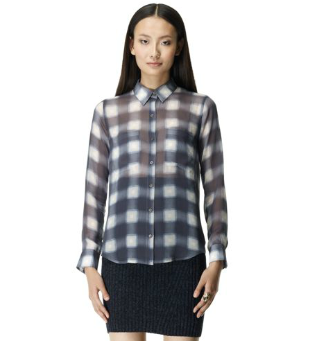 Thanks to this Club Monaco Regan Silk Shirt ($130) our Fall plaid gets a polished finish that works from weekends to our 9-to-5 routine.