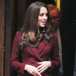 Kate Middleton Wears Burgundy 2012 (Video)