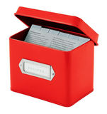 Red Recipe Box
