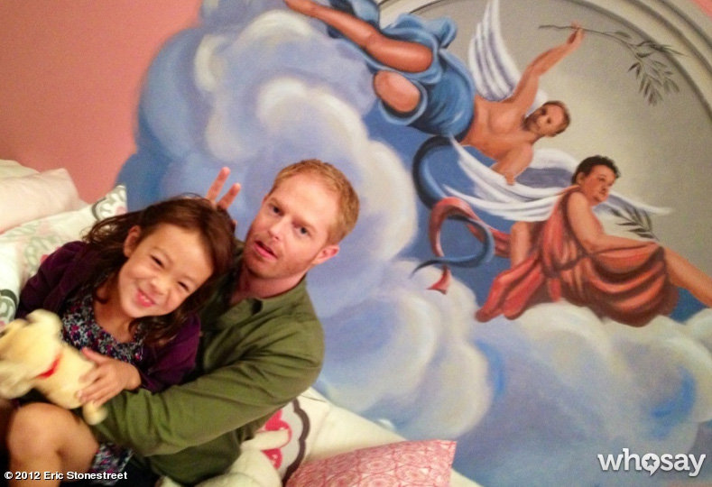 Eric Stonestreet snapped a picture of his Modern Family family. Source: Eric Stonestreet on WhoSay