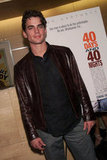 A fresh-faced Matt Bomer posed solo at an NYC screening of 40 Days and 40 Nights in February 2002.