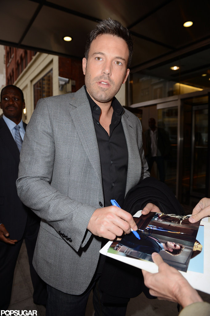Ben Affleck signed autographs for fans.