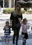 Jessica Alba and daughter wore matching crossbody bags in LA.