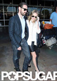 Kate Bosworth and Michael Polish both sported shades at the airport.