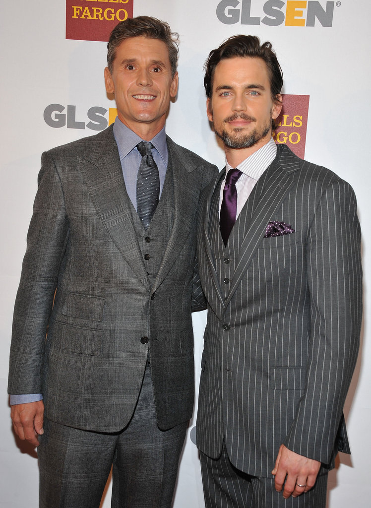 Matt Bomer shared a photo with partner Simon Halls at the eighth annual GLSEN Respect Awards at the Beverly Hills Hotel in October 2012.