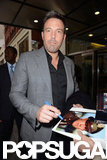 Ben Affleck signed a photo of himself for a fan.