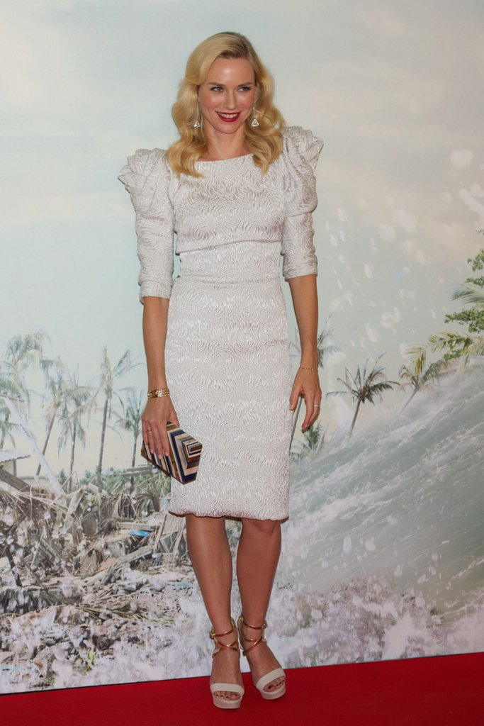 Naomi Watts dressed up for the Madrid premiere of The Impossible.