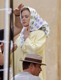 Nicole Kidman Transforms Into Grace Kelly on Set