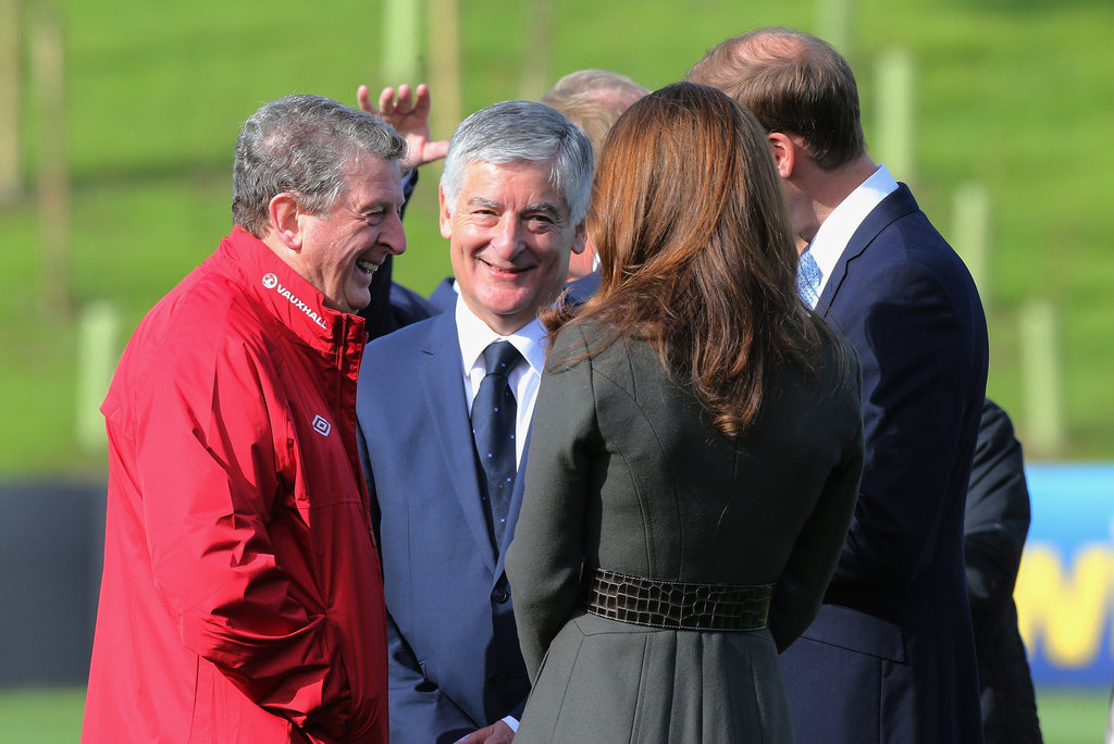Kate Middleton and Prince William spoke with the England manager Roy Hodgson and FA Chairman David Bernstein.