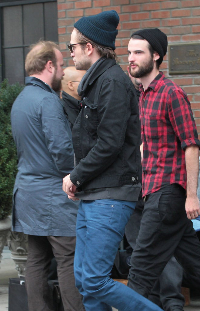 Robert Pattinson and Tom Sturridge both wore beanies.