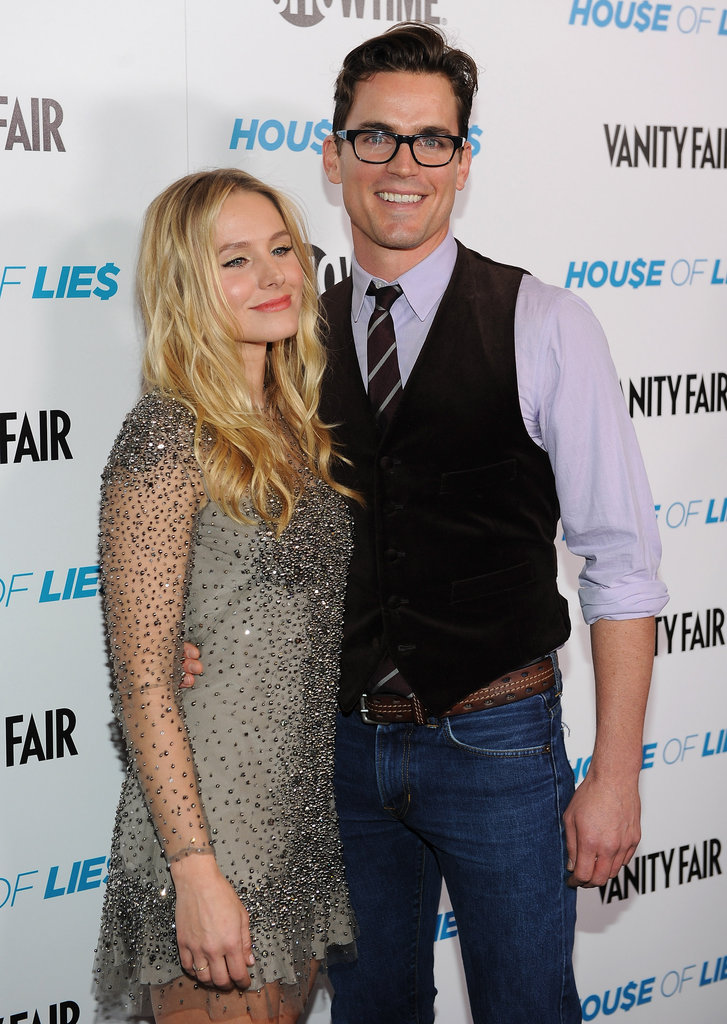 Matt Bomer and Kristen Bell posed for photos at an LA screening of House of Lies in January 2012.