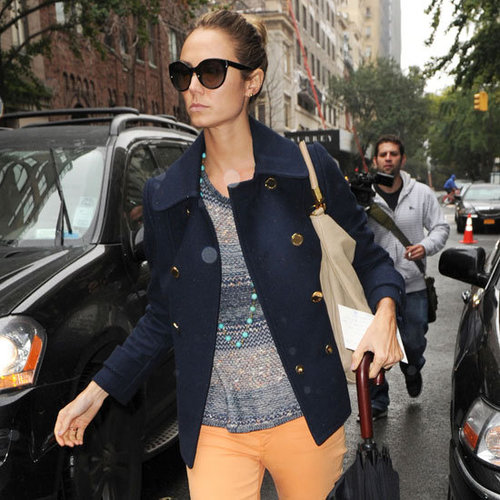 Stacy Keibler Wearing Orange Jeans