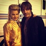 Eliza Coupe's husband joined her on set. Source: Instagram user elizamuthafuckincoupe