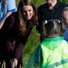 Kate Middleton Pictures in Newcastle Meeting Teenagers