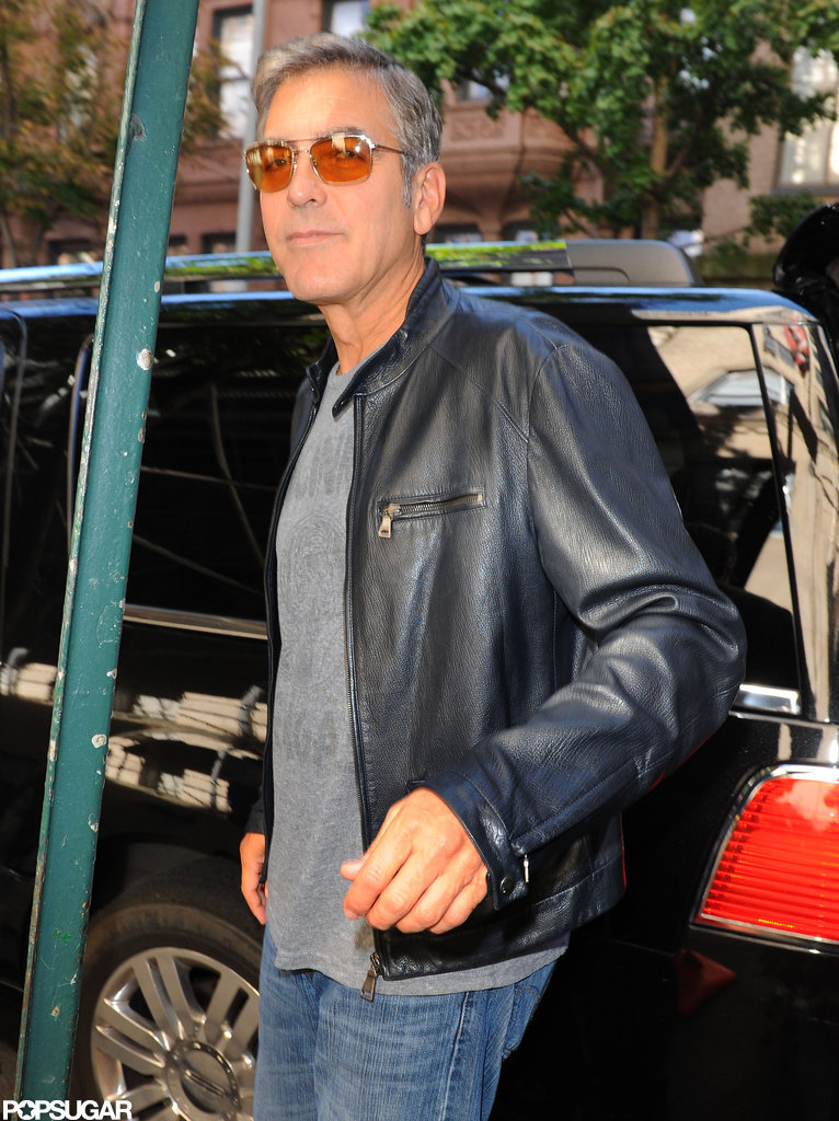 George Clooney departed NYC.