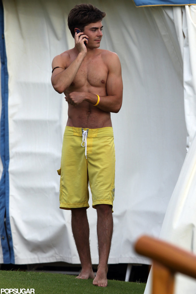 A shirtless Zac Efron soaked up the sun in Maui in June 2010.