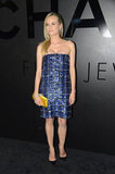 Diane Kruger wore Chanel at a Chanel jewelry party in NYC.