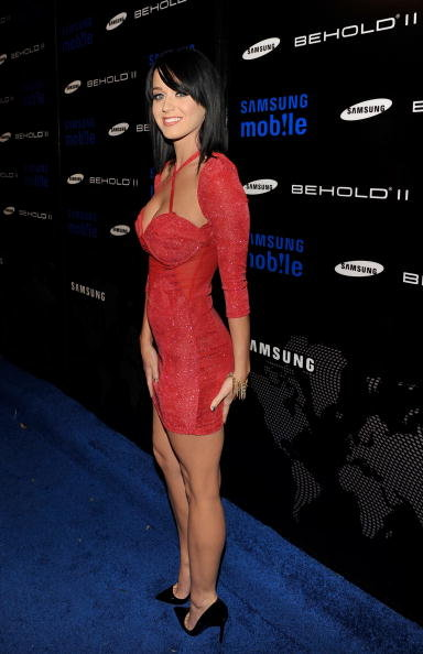 Katy Perry looked red hot at the Samsung Behold II launch event in LA in November 2009.