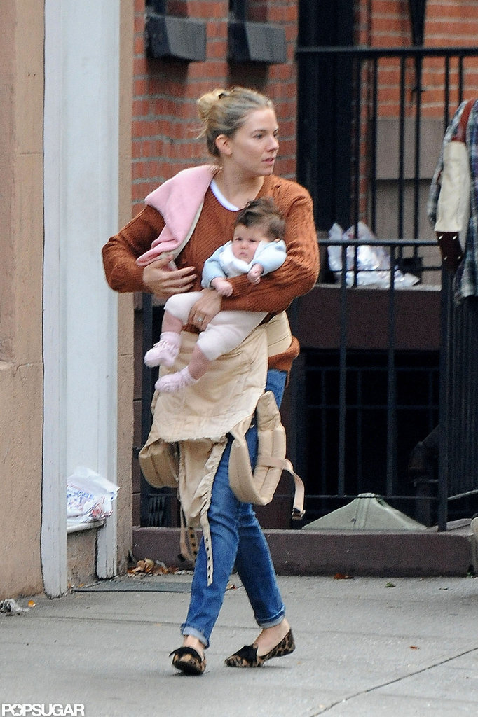 Sienna Miller stepped out in NYC with baby Marlowe.