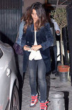 Penélope Cruz and Javier Bardem had dinner with their families in Madrid.