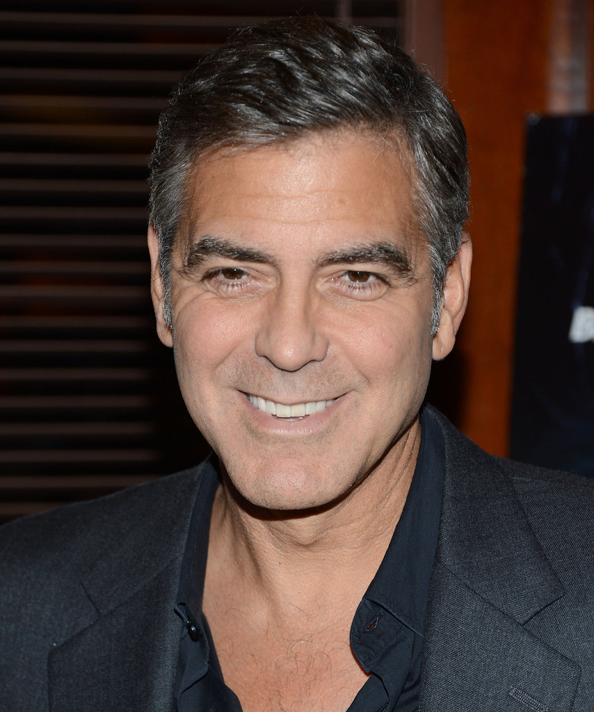 George Clooney attended the New York screening of Argo.