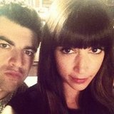 Hannah Simone and Max Greenfield got serious between takes of New Girl. Source: Instagram user therealhannahsimone