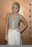 Miley Cyrus chose a neutral palette for the gala in LA.