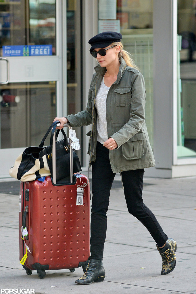 Diane Kruger checked out of her NYC hotel.