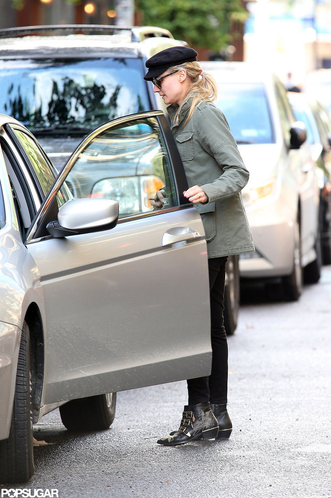 Diane Kruger hopped into a car in NYC.