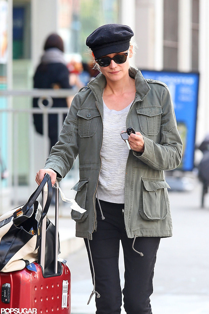 Diane Kruger juggled her car keys in NYC.