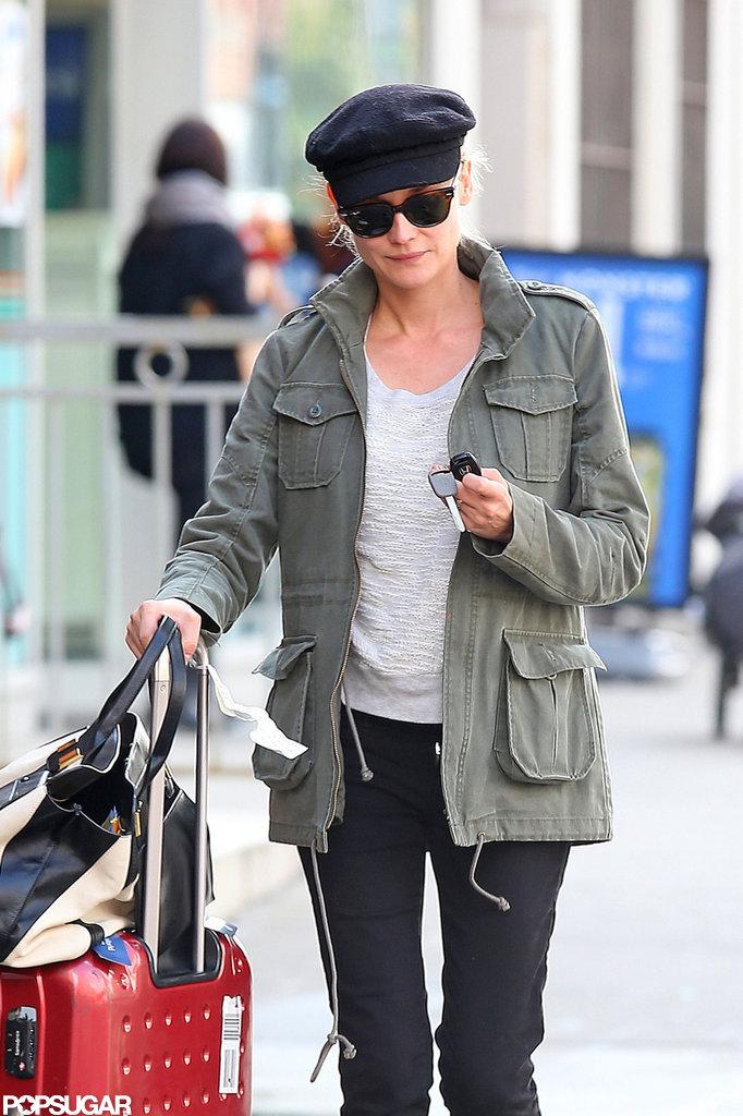 Diane Kruger juggled her car keys in NYC.