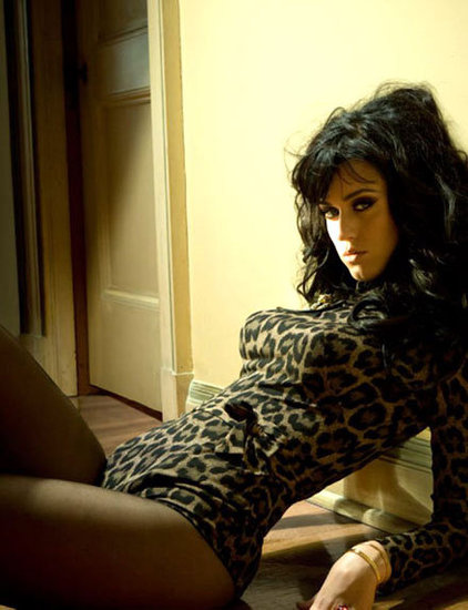 Katy Perry wore a leopard leotard for Esquire's July 2011 issue.
