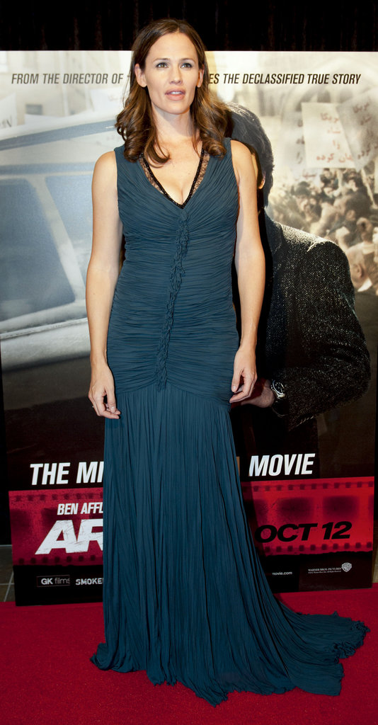 Jennifer Garner stepped out in a Roberto Cavalli gown to support husband Ben Affleck at his Argo premiere in Washington DC.