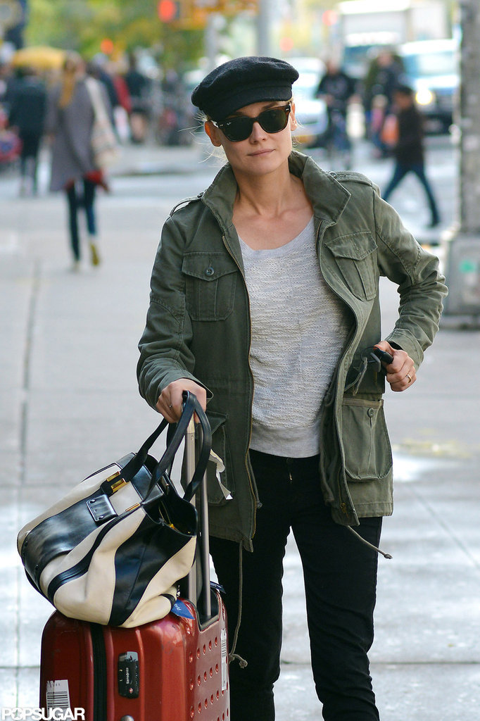 Diane Kruger wore a ring on her left ring finger in NYC.