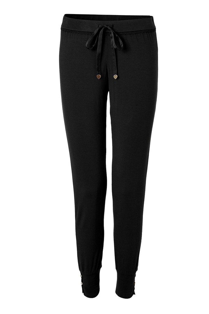 These Juicy Couture Black Lace-Trimmed Pants ($70) are simultaneously chic and comfy — and can easily be worn outside for a quick errand or two.