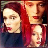 Coco Rocha dyed her hair back to red. Source: Instagram user cocorocha