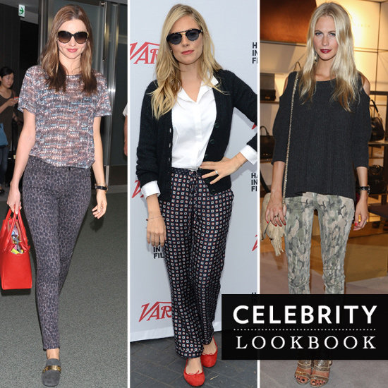 Celebrities Wearing Printed Pants