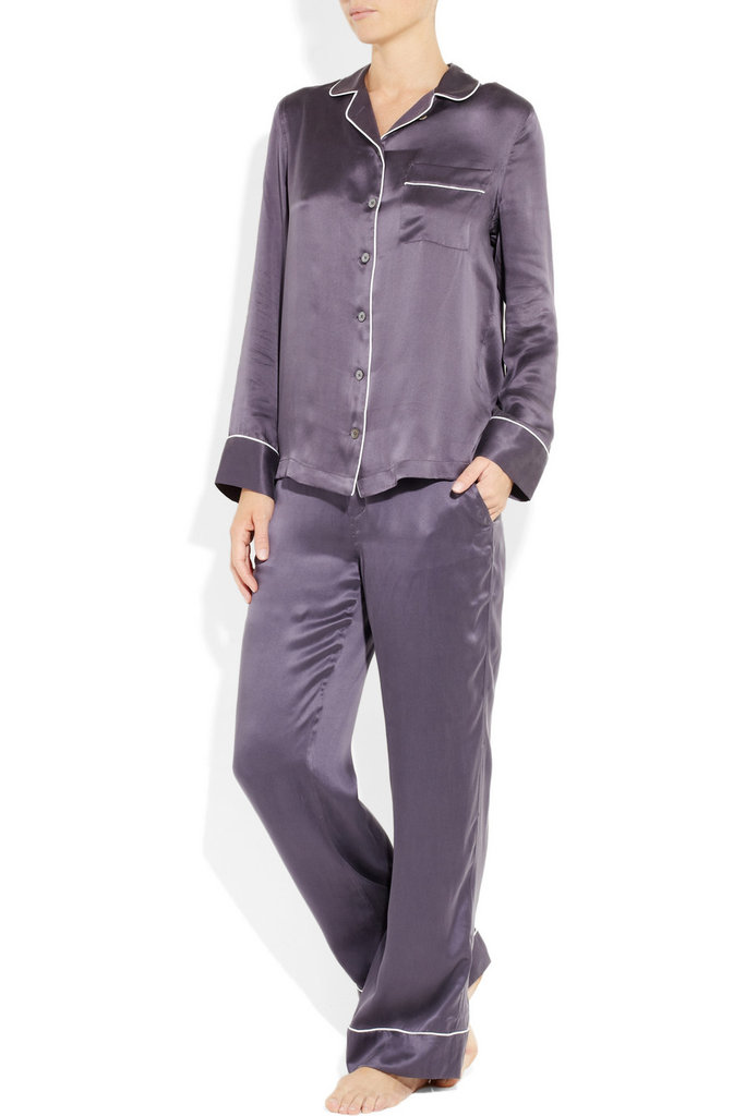 Prefer something fancier? This luxurious Equipment Avery Silk-Satin Pajama Set ($440) should do the trick.