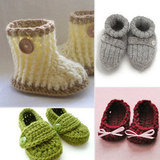 Seriously Adorable: Handmade Newborn Booties For Bringing Home Baby