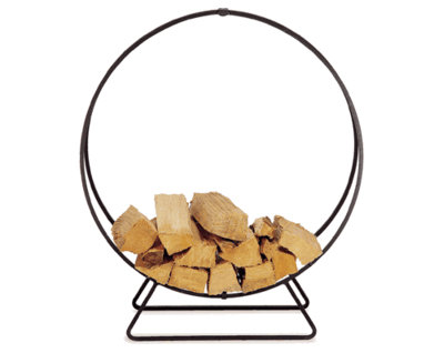 Go architectural and contemporary with the  In and Out Lifestyles Firewood Hoop ($112).