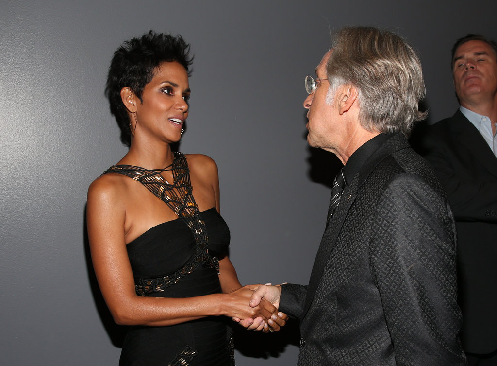 Halle Berry attended the event honoring Whitney Houston in LA.