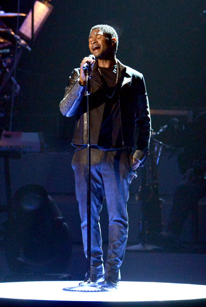 Usher performed in LA at the Grammy tribute to Whitney Houston.