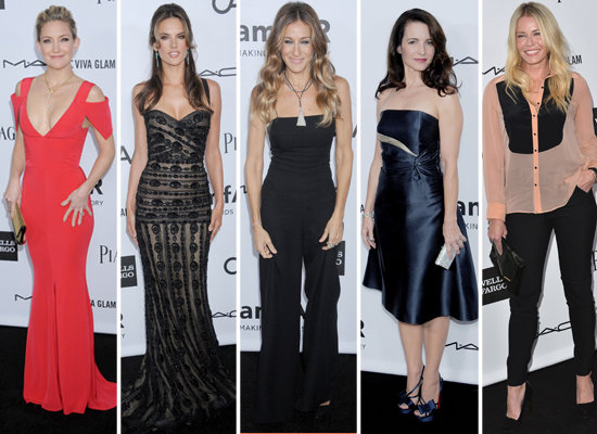 Kate Hudson Stuns at amfAR's Gala With SJP and Kristin Davis