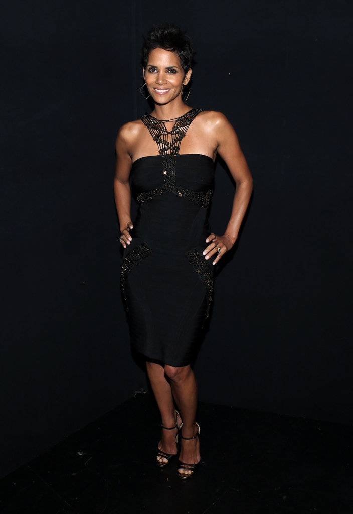 Halle Berry stepped out to honor Whitney Houston in LA.